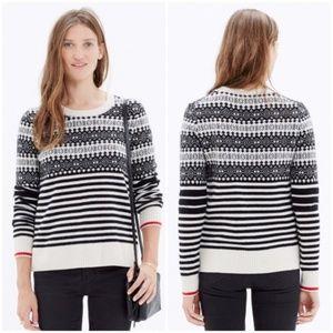 Madewell Fairstripe Merino Pullover Sweater